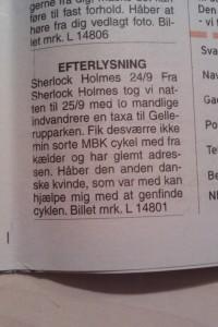 Efterlysning. Fra Århus Onsdag 3. november 2010