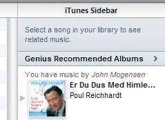 iTunes Genius Recommended Albums